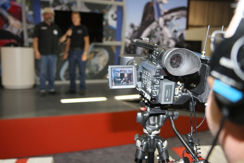 Video at the Ultimate Builder Custom Bike Show