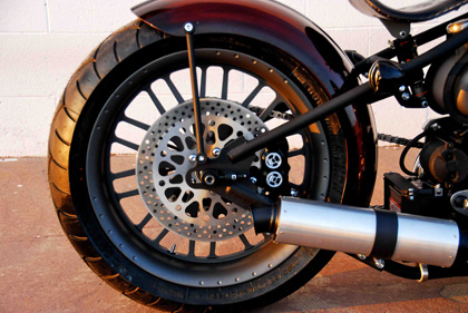 69 Chopper with Performance Canister Muffler
